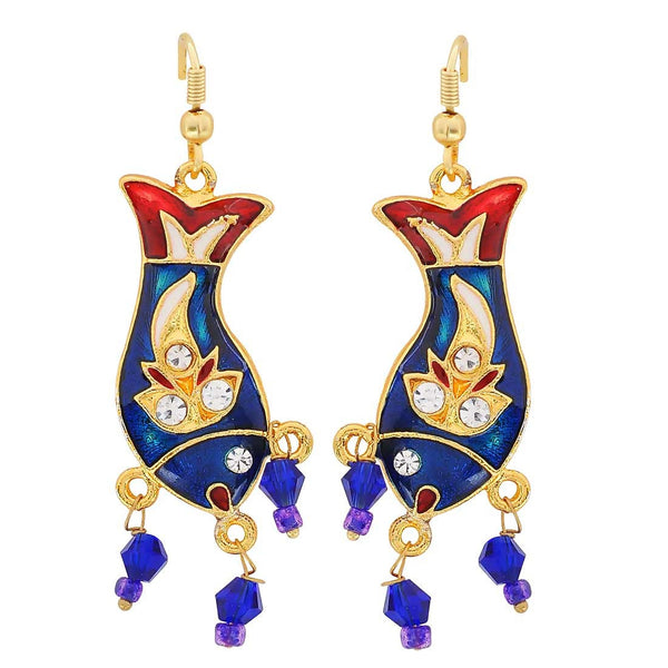 Adorable Multicolour Meenakari College Dangler Earrings - MCHUJE3DC725