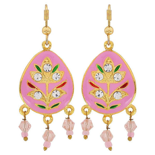 Fantastic Multicolour Meenakari Party Dangler Earrings - MCHUJE3DC736