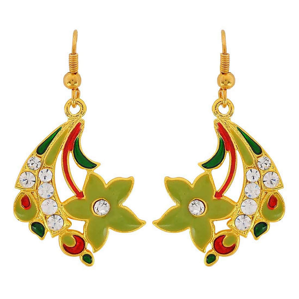 Exclusive Multicolour Crystal Friend's Party Dangler Earrings - MCHUJE3DC749