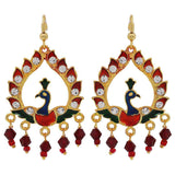 Lovely Multicolour Meenakari Festival Dangler Earrings - MCHUJE3DC754