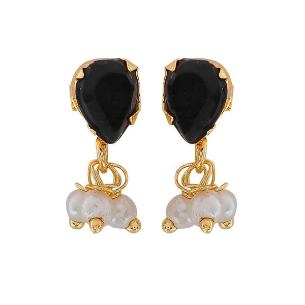 Gorgeous Black White Pearl Neighbour's Visit Stud Earrings - MCHUJE3DC781