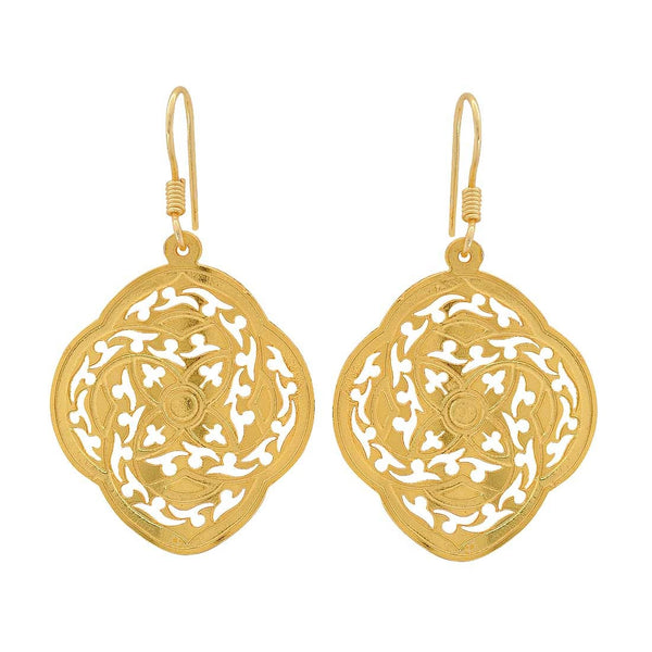 Trendy Gold Filigree Get-together Dangler Earrings - MCHUJE4JY69