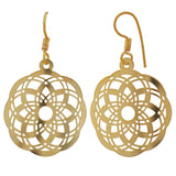Classy Gold Filigree Cocktail Dangler Earrings - MCHUJE4JY73