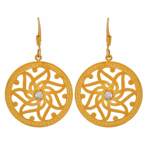 Amazing Bronze Filigree Get-together Dangler Earrings - MCHUJE4JY84
