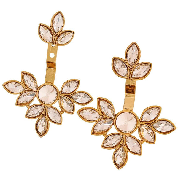 Superb Gold Kundan Ceremony Drop Earrings - MCHUJE4JY184