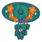 Exclusive Blue Orange Designer Festival Hair Clip - MCHUJH4JY484