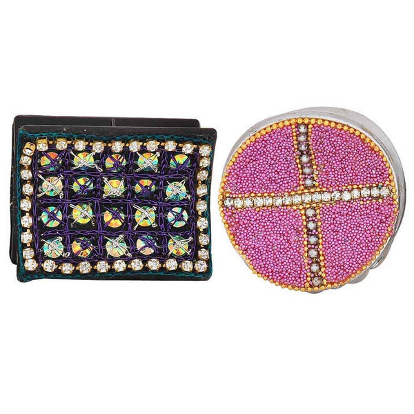 Pair of Multicolour Designer Cocktail Hair Clutchers - MCHUJH4JY581
