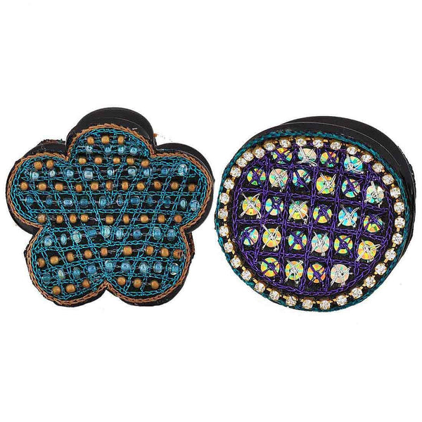 Pair of Multicolour Designer Get-together Hair Clutchers - MCHUJH4JY592