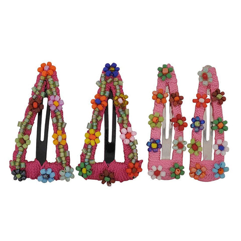 2 Pairs of Multicolour Designer Party Tic Tac Clips - MCHUJH4JY595