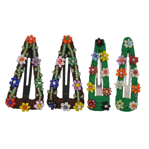 2 Pairs of Multicolour Designer Party Tic Tac Clips - MCHUJH4JY600