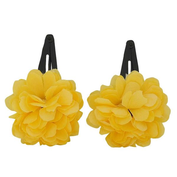 Pair of Yellow Designer Party Tic Tac Clips - MCHUJH4JY620