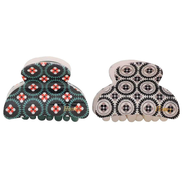 Pair of Multicolour Designer Reunion Hair Clutchers - MCHUJH4JY834