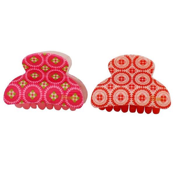 Pair of Multicolour Designer College Hair Clutchers - MCHUJH4JY835