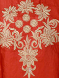 Beautiful Embroidery Kurti From Rajasthan In Tawny Orange - PJRKLD2NR4