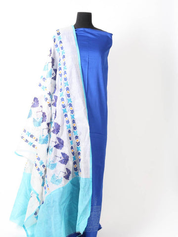 Phulkari Kurti With Dupatta In Blue - PI-CPPK3JN1
