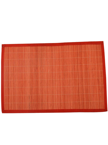Bamboo coloured placemats In Orange - BHDPM26JN2