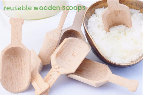Wooden Scoop for Sugar Scrubs