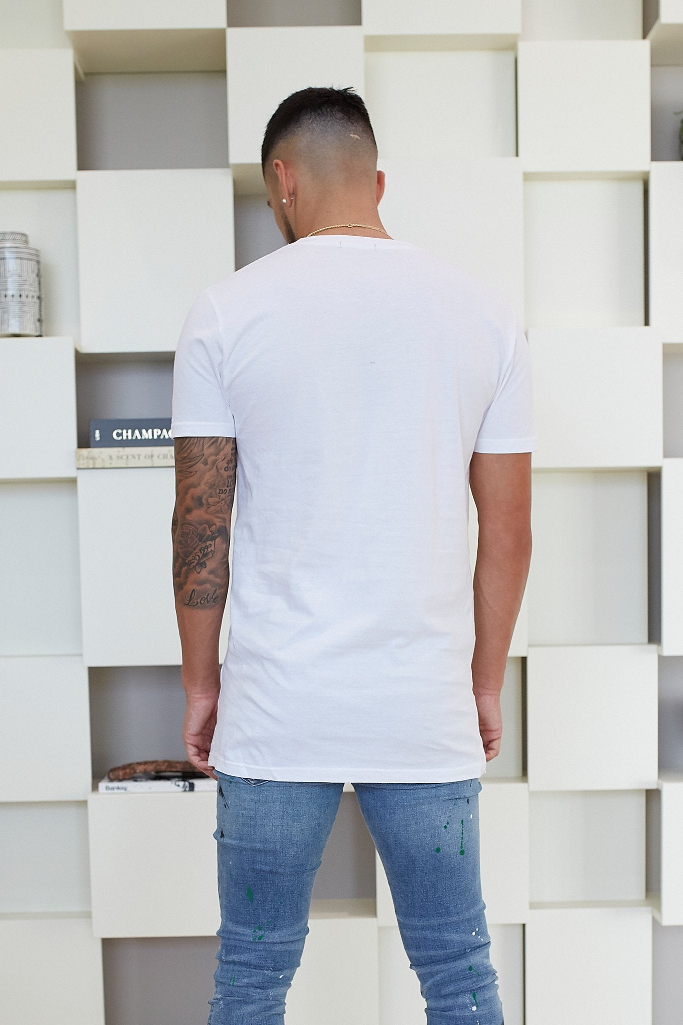 WHITE GOTHIC T-SHIRT - Illusion Attire