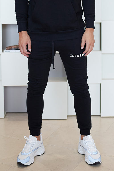BLACK ESSENTIALS JOGGERS