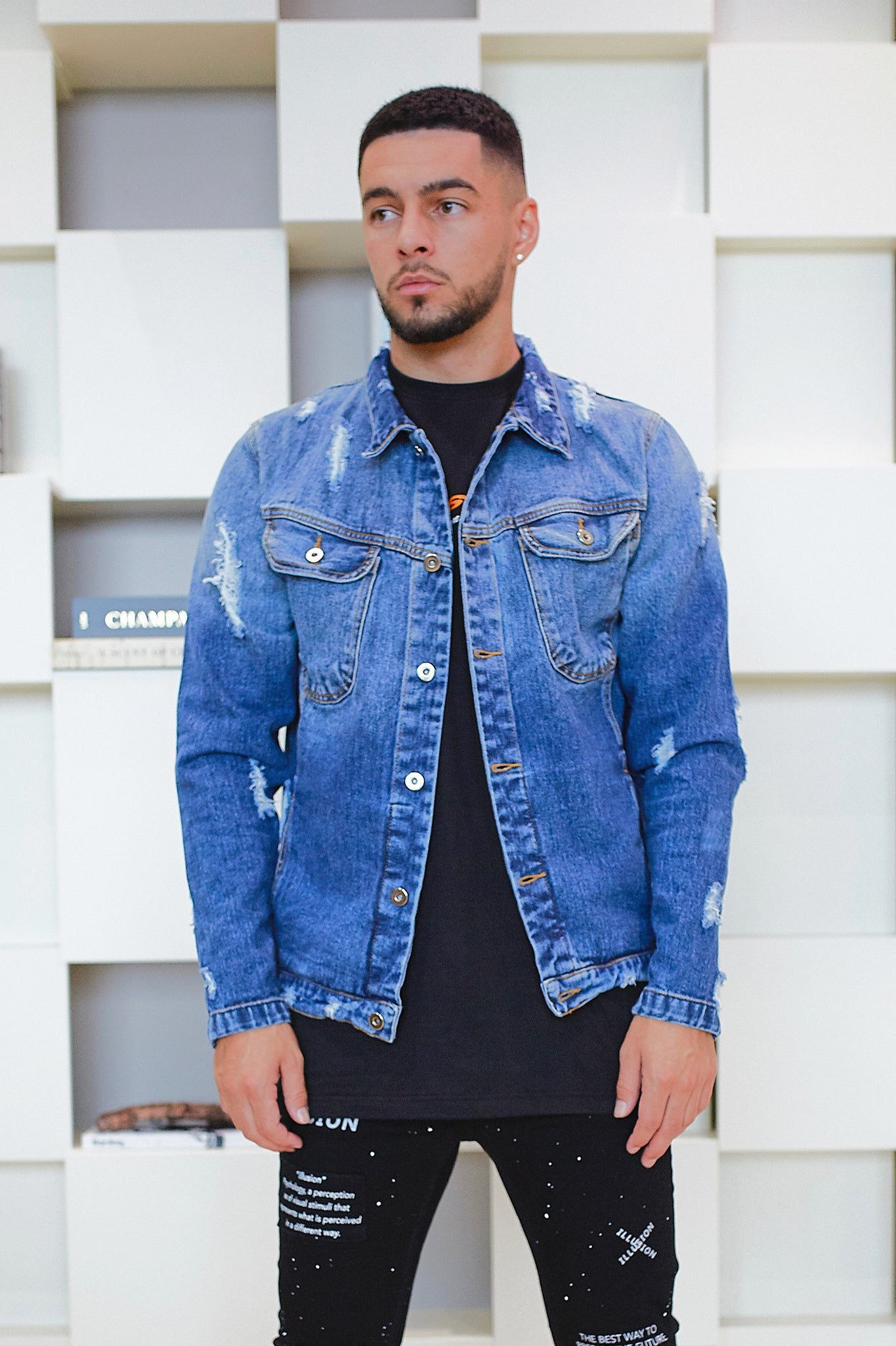 Illusion Denim Jacket - Illusion Attire