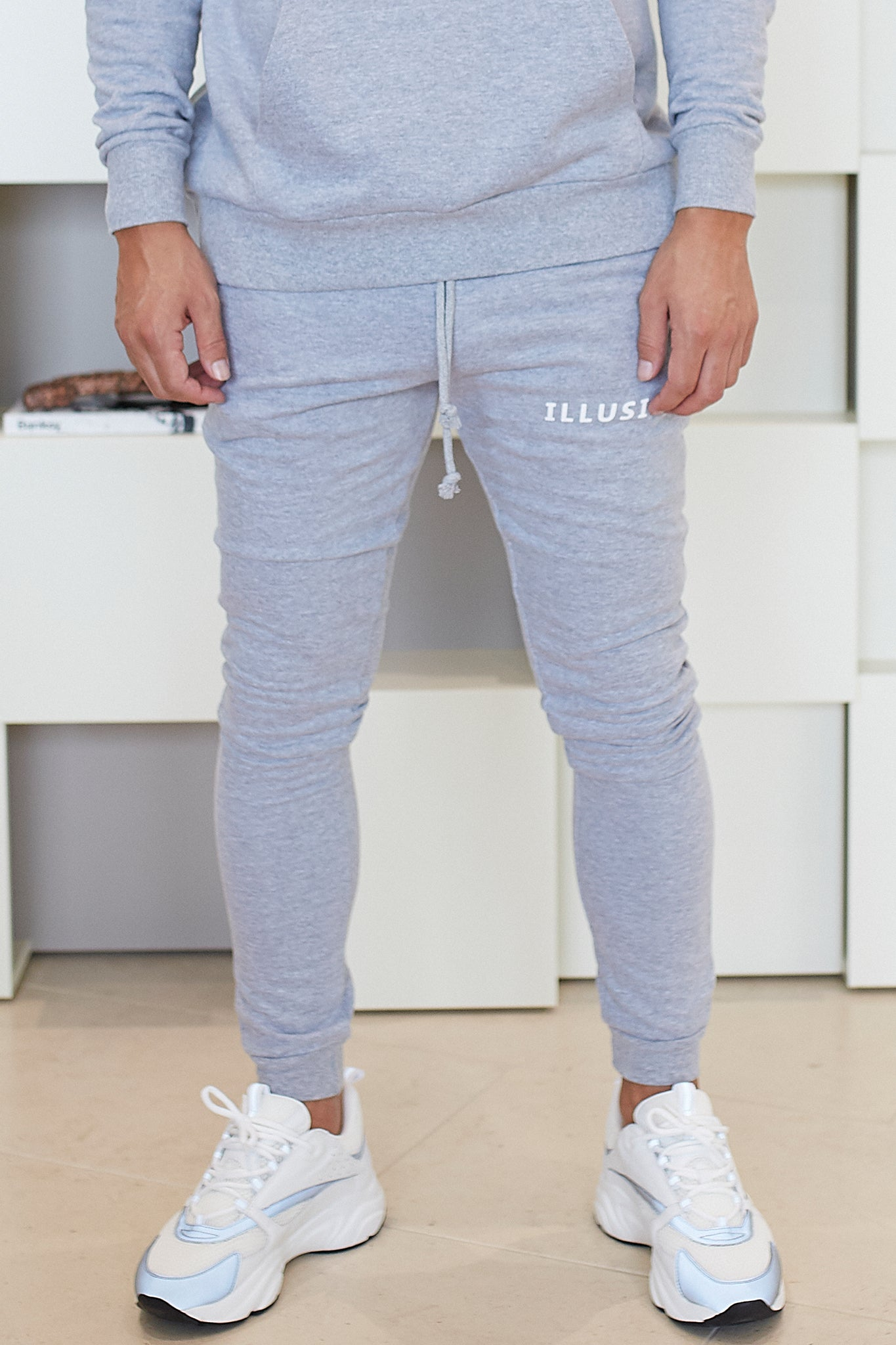 GREY ESSENTIALS JOGGERS - Illusion Attire