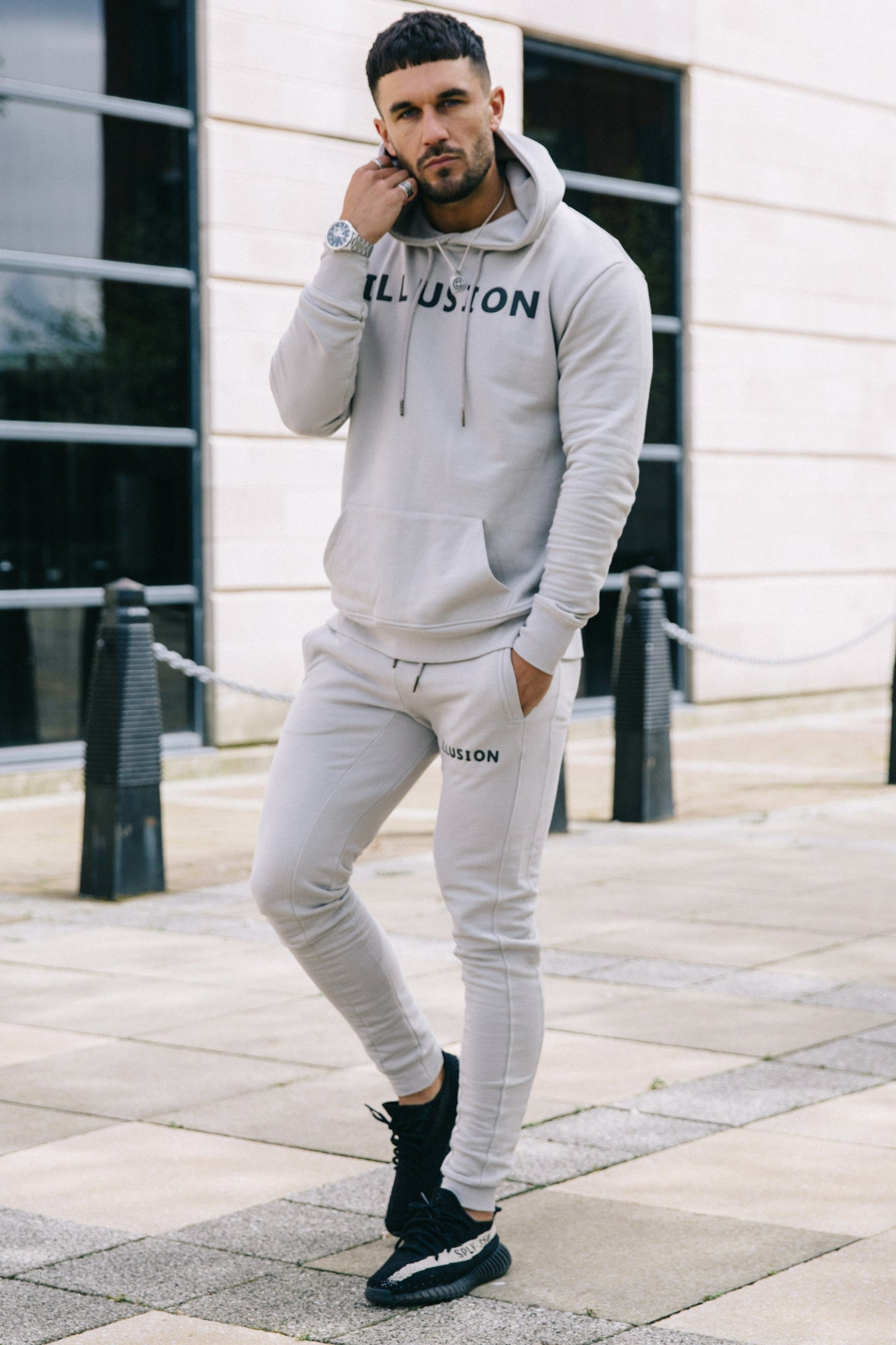 GREY HOODIE - Illusion Attire