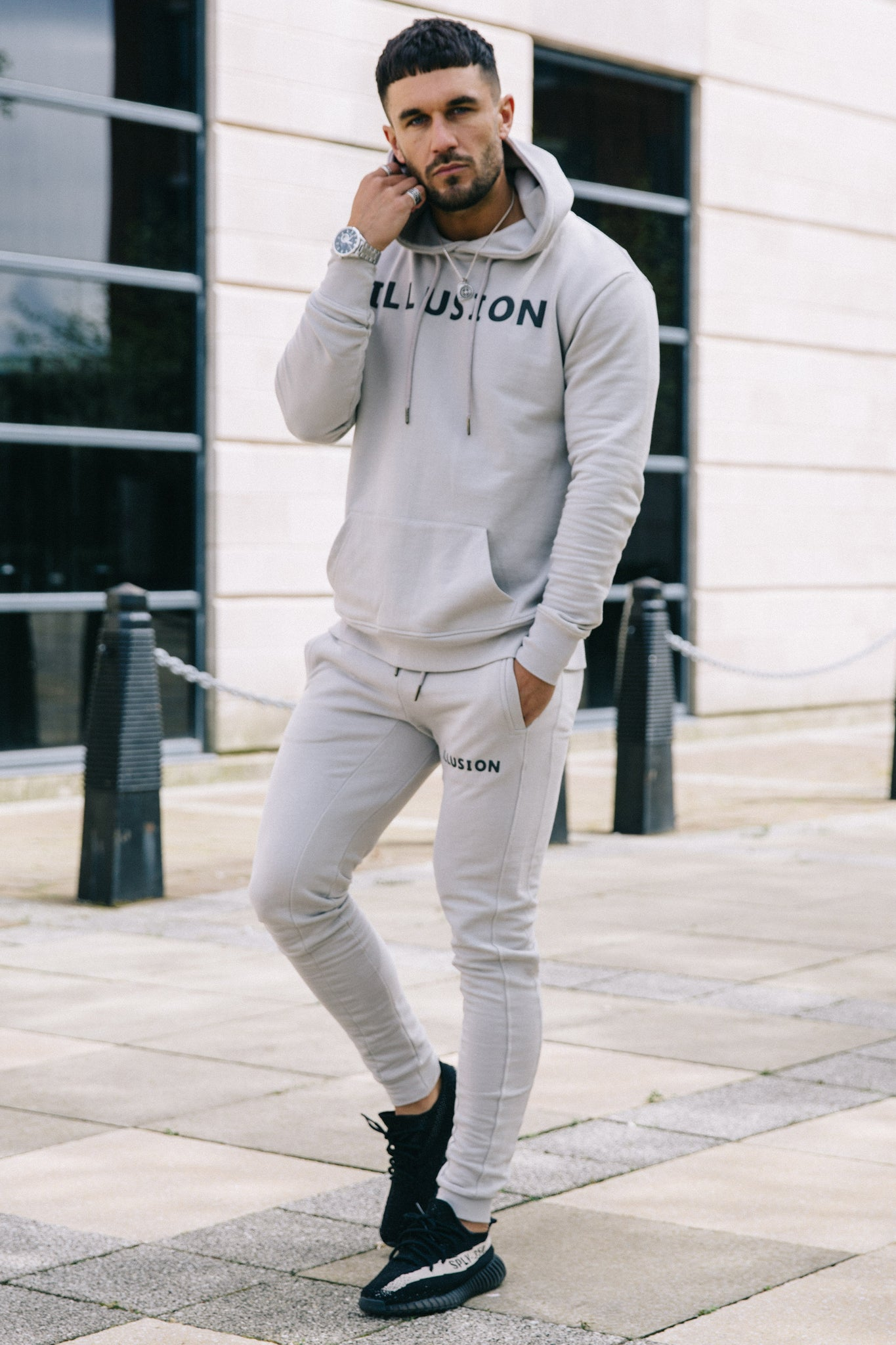 GREY JOGGERS - Illusion Attire