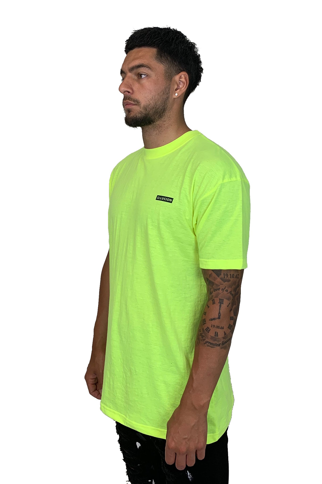 OVERSIZED NEON STENCIL TEE - Illusion Attire