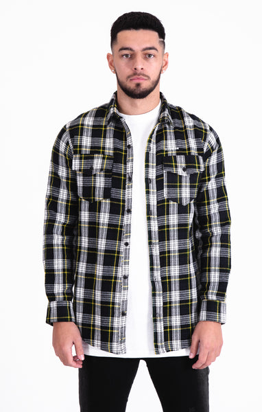 Blue & White Check Shirt - Illusion Attire
