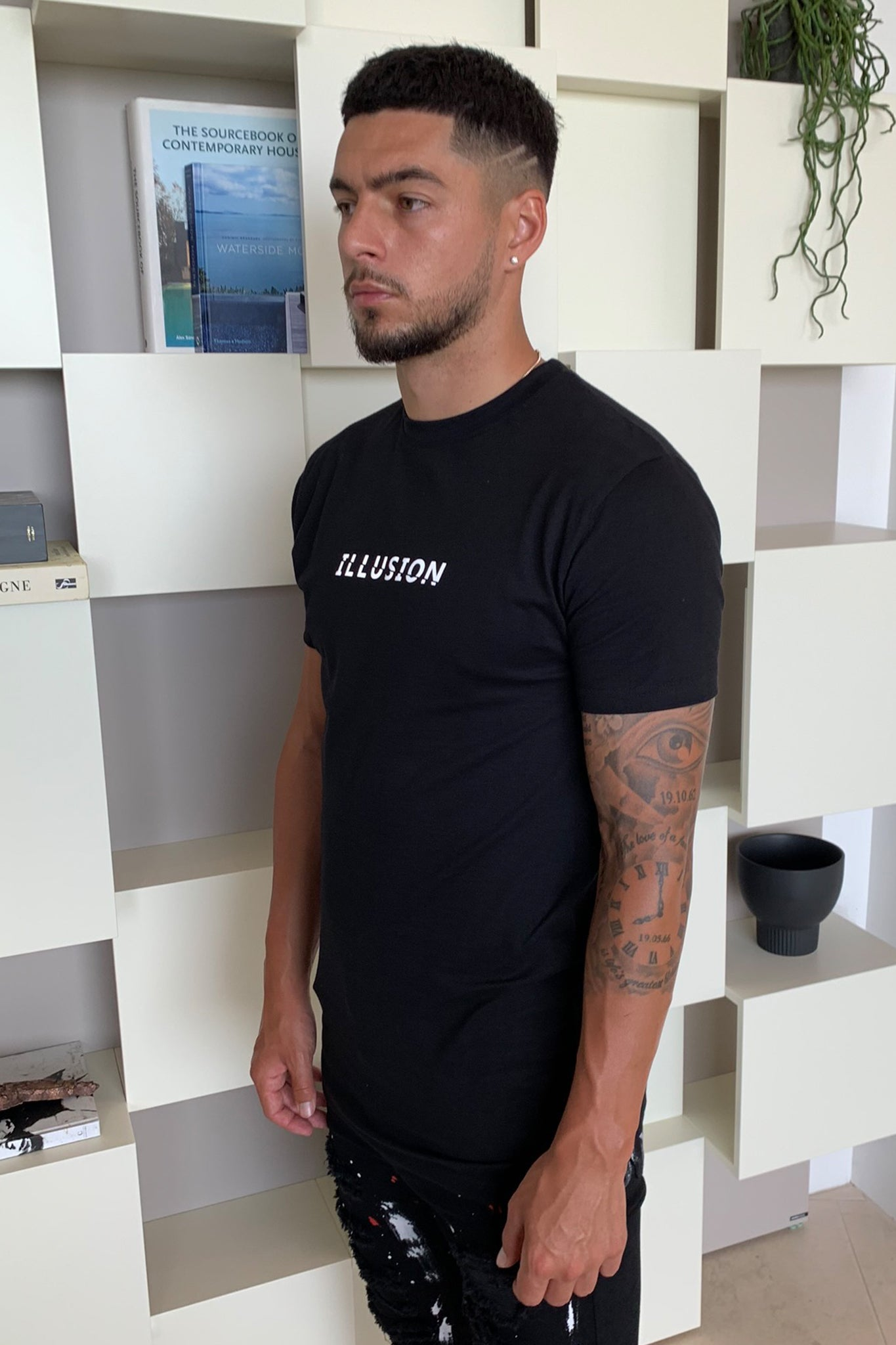 Black Reflective Tee - Illusion Attire
