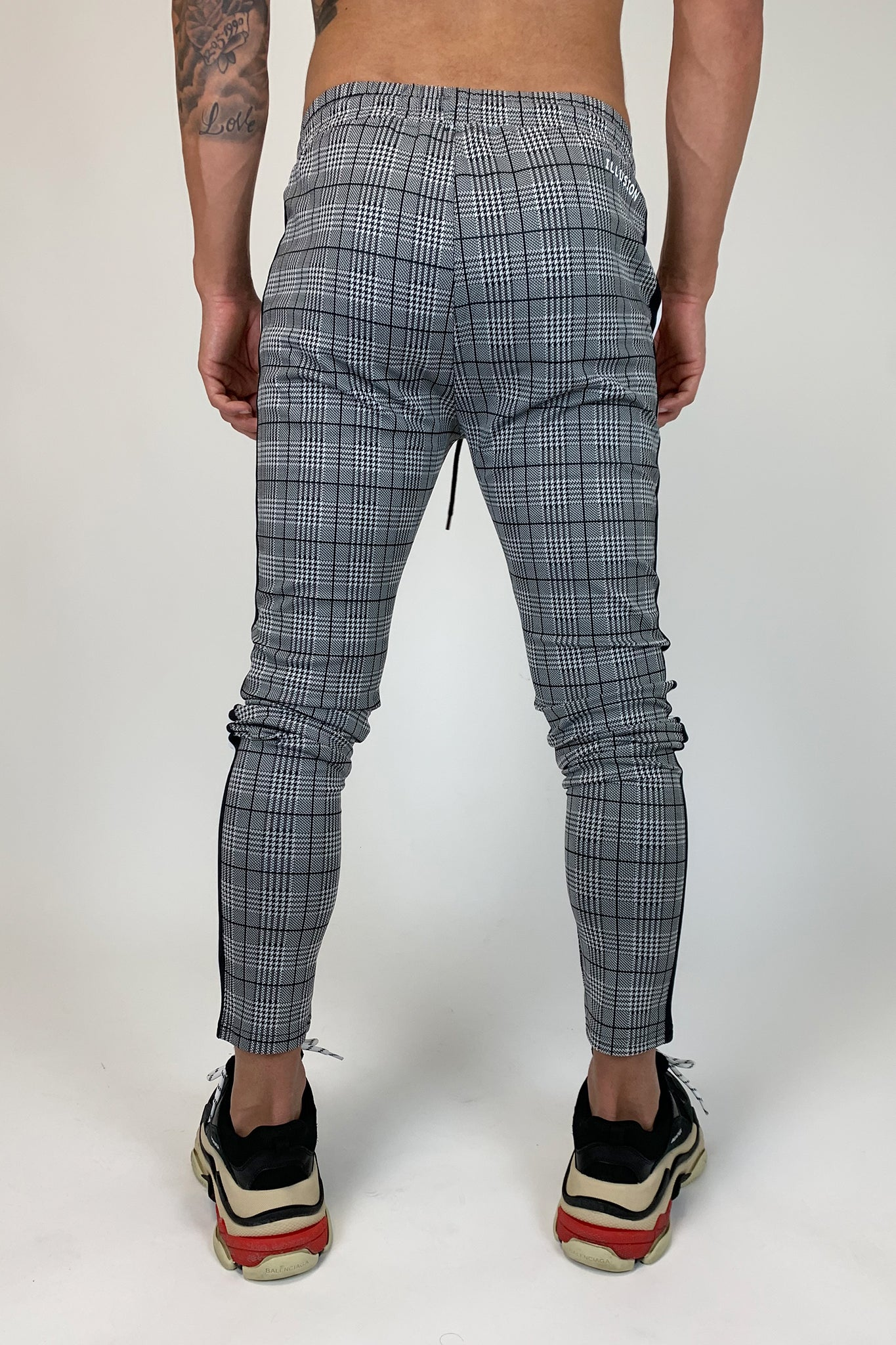 Prince Of Wales Check Trousers - Illusion Attire