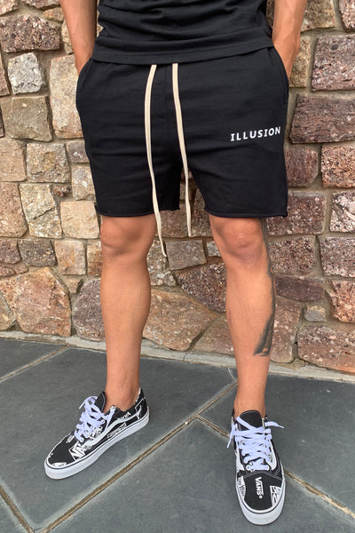BLACK TWIN SET SHORTS - Illusion Attire