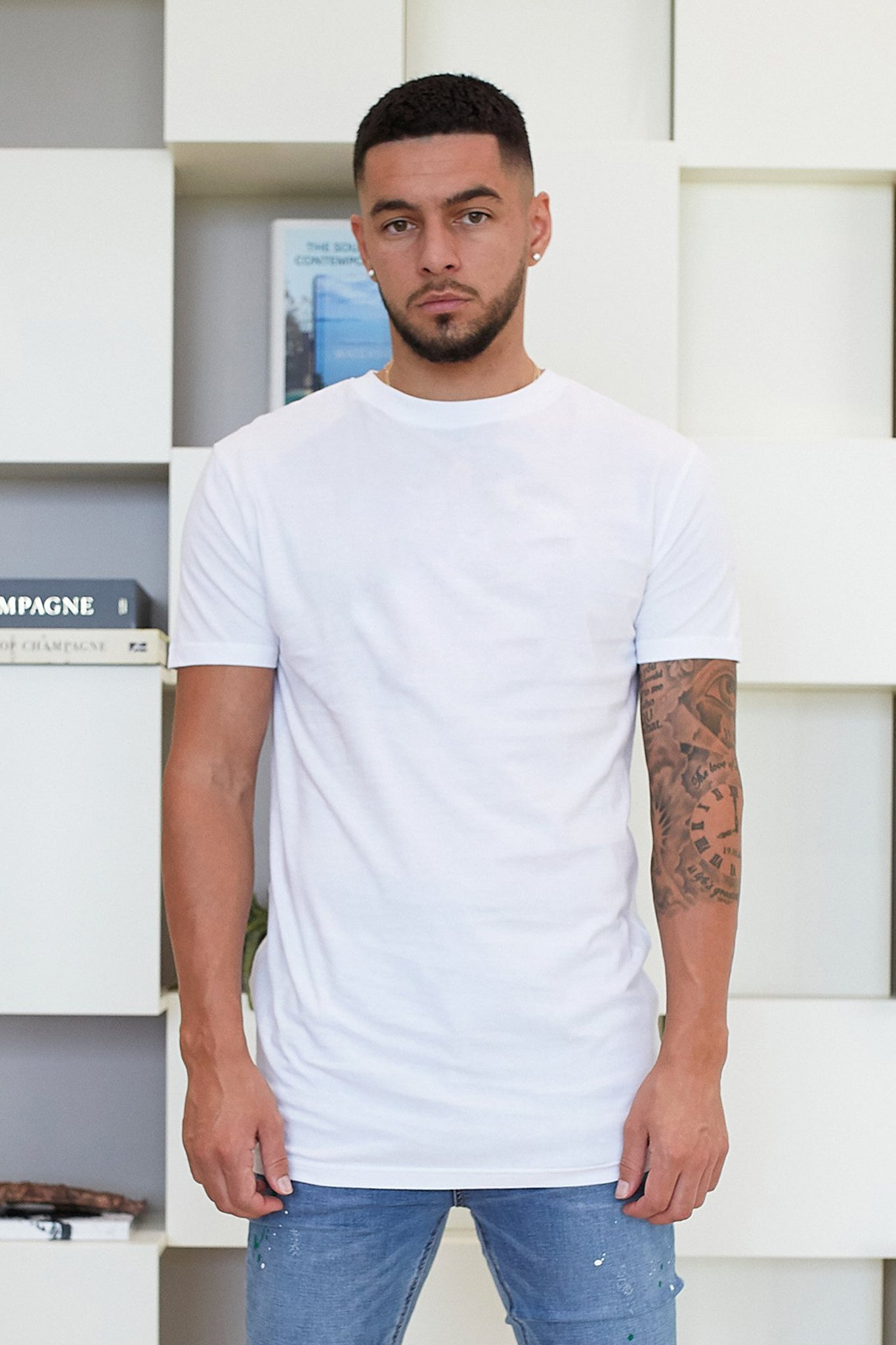 WHITE PREMIUM ESSENTIAL REGULAR FIT T-SHIRT - Illusion Attire