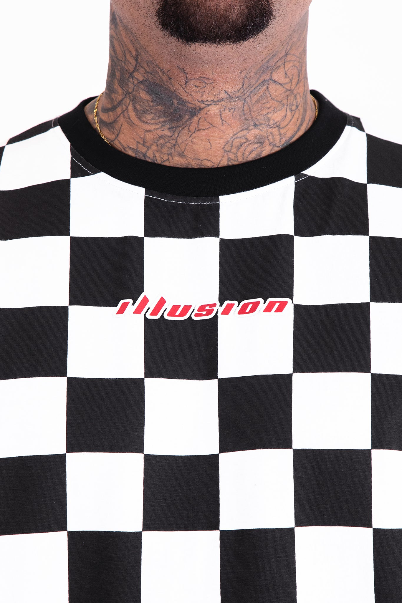 Checkered Tee - Illusion Attire