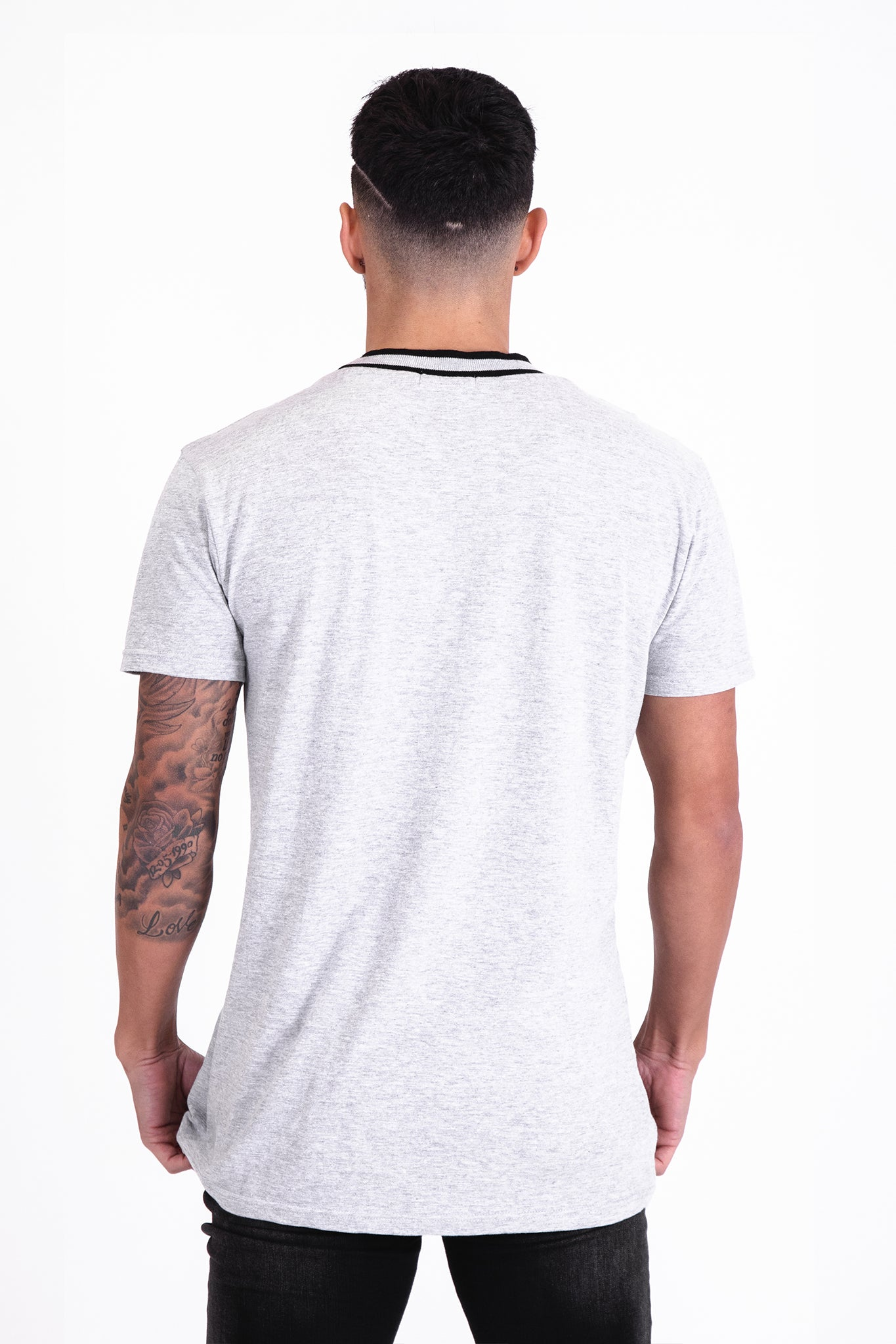 Grey Iconic Tee - Illusion Attire