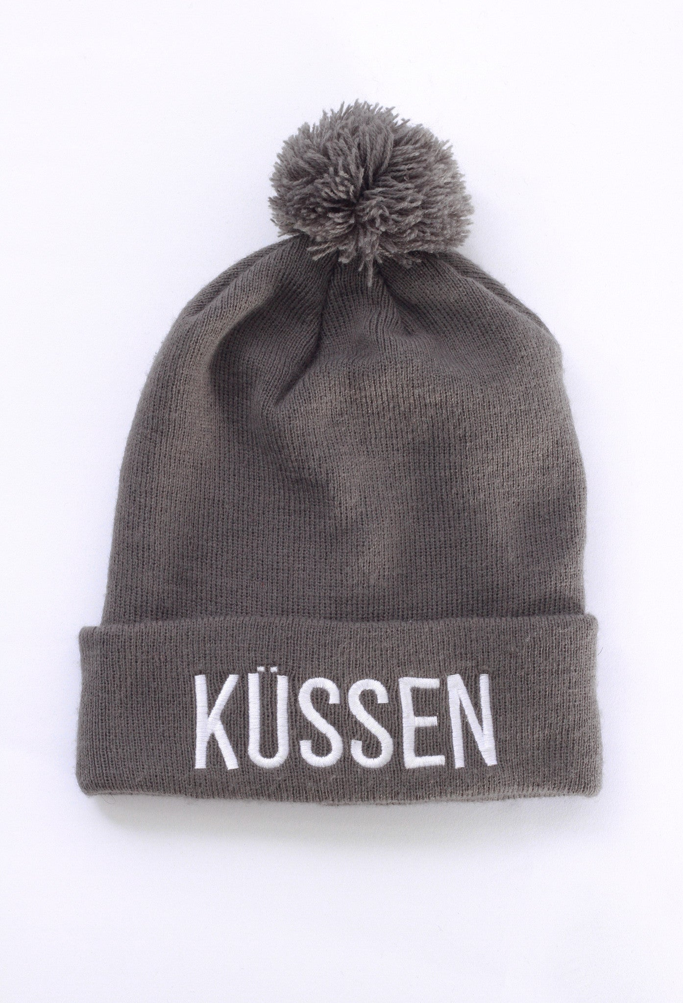 Kussen Grey Bobble Hat Beanie
