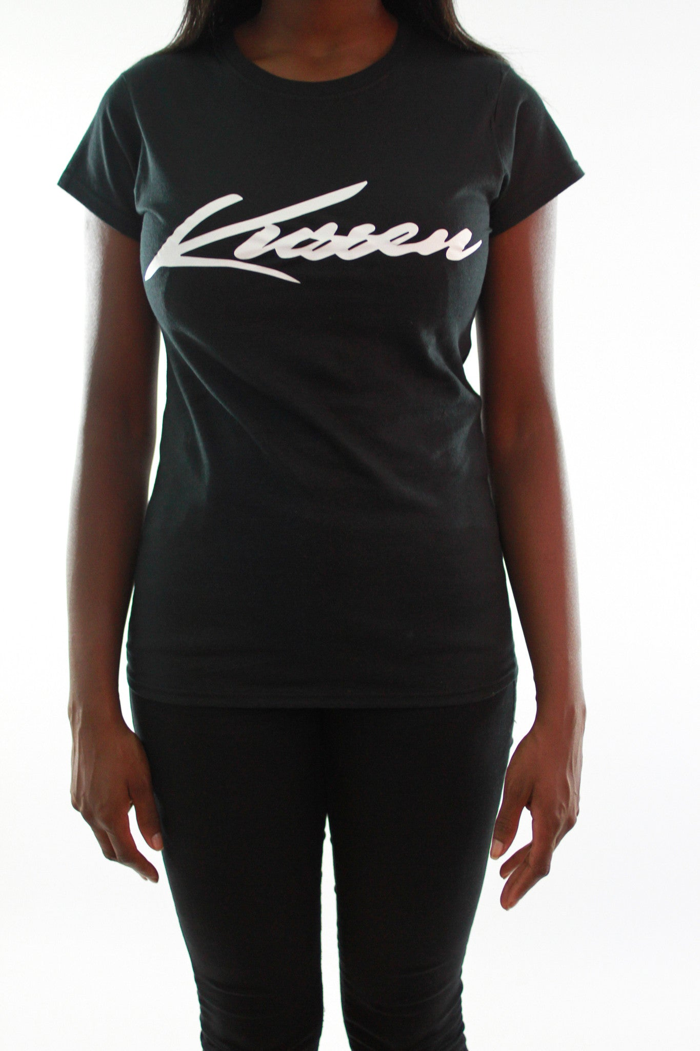 KUSSEN FITTED FEMALE SIGNATURE BLACK/WHITE T-SHIRT