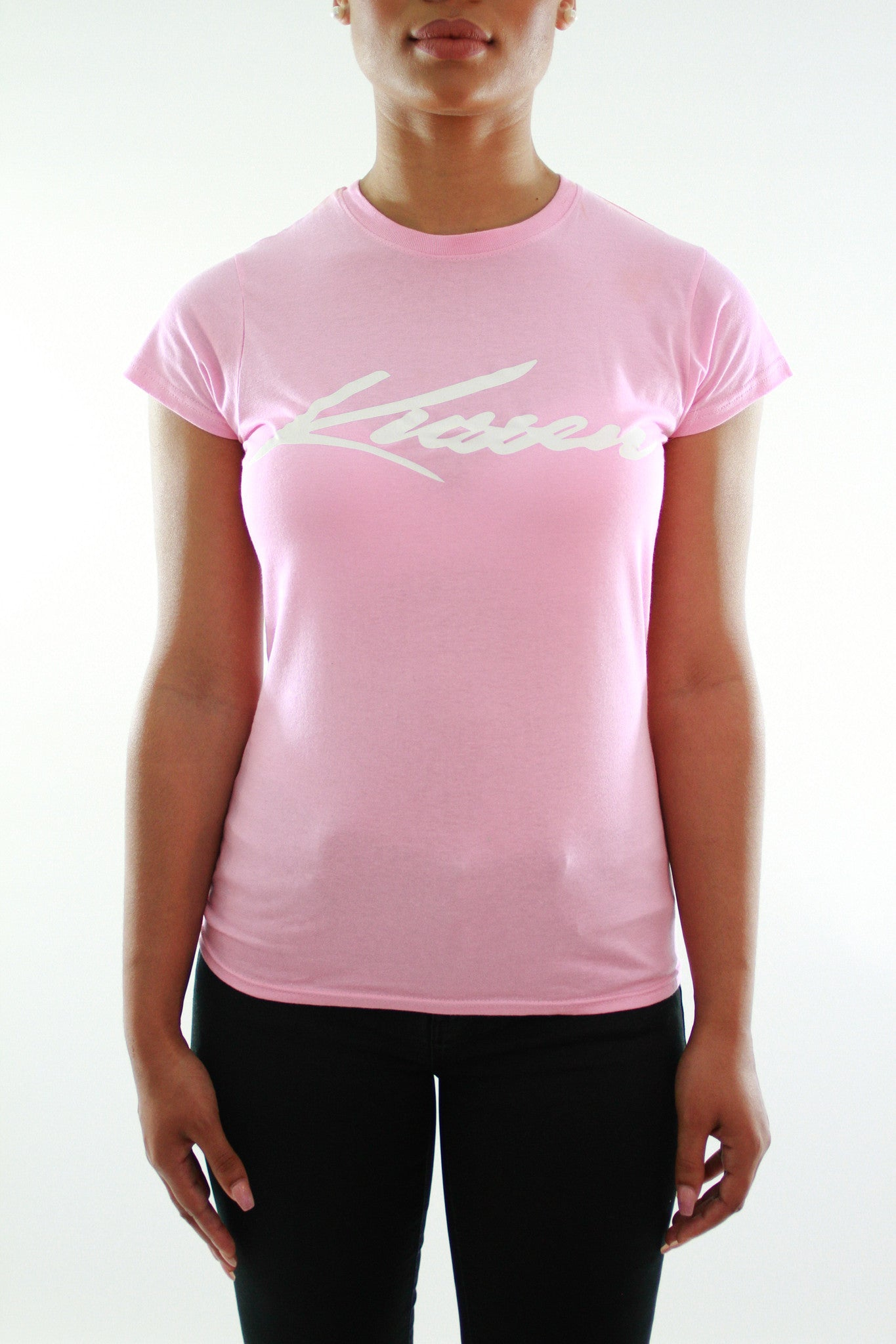 KUSSEN FITTED FEMALE SIGNATURE PINK T-SHIRT