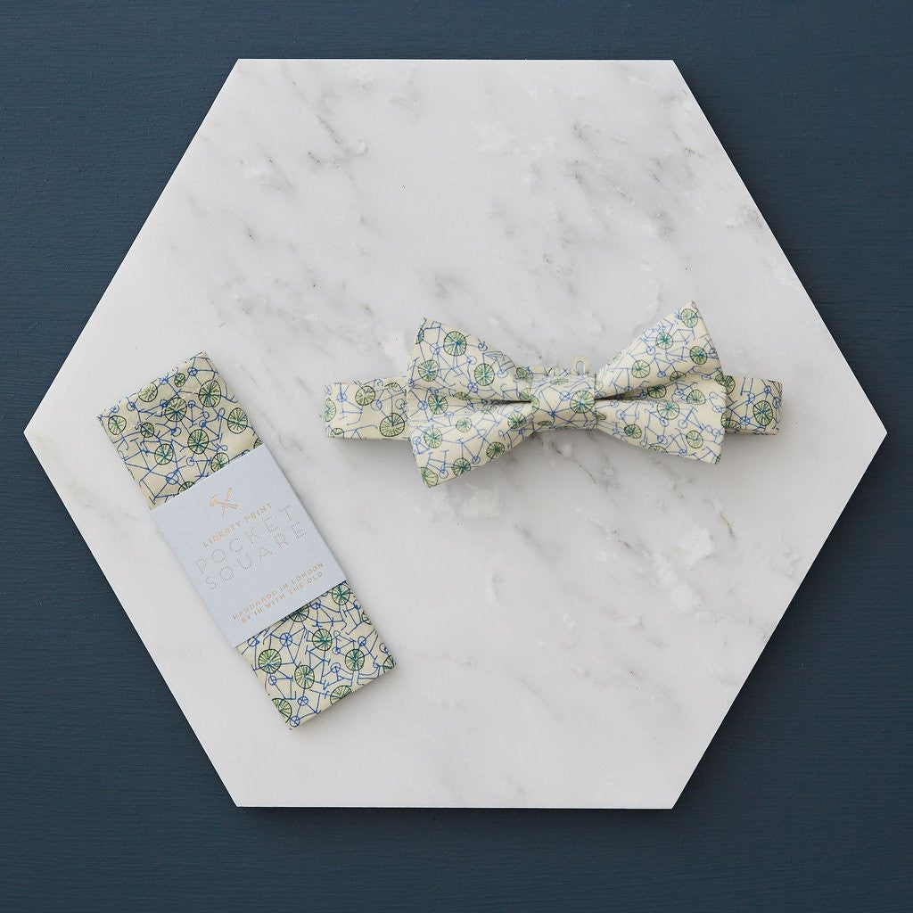 Botanique Workshop Liberty Print Bow Tie and Pocket Square