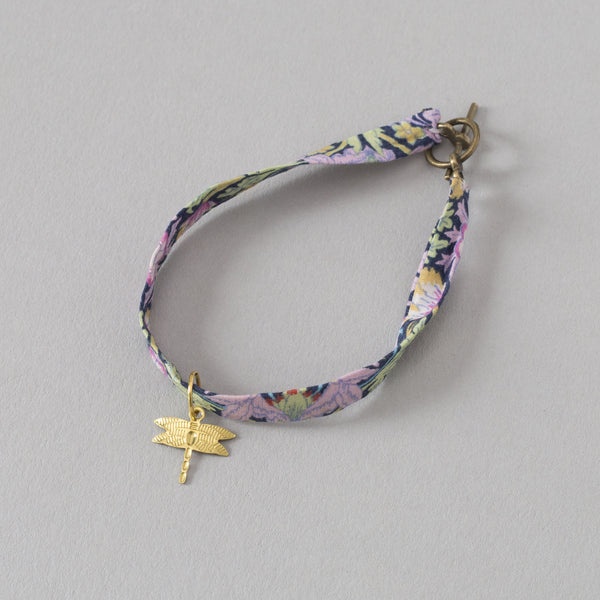 Botanique Workshop Handmade Liberty Print Charm Bracelet Easter Present