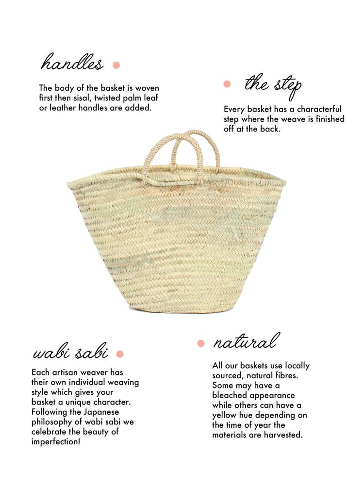 Handwoven Palm Leaf Basket