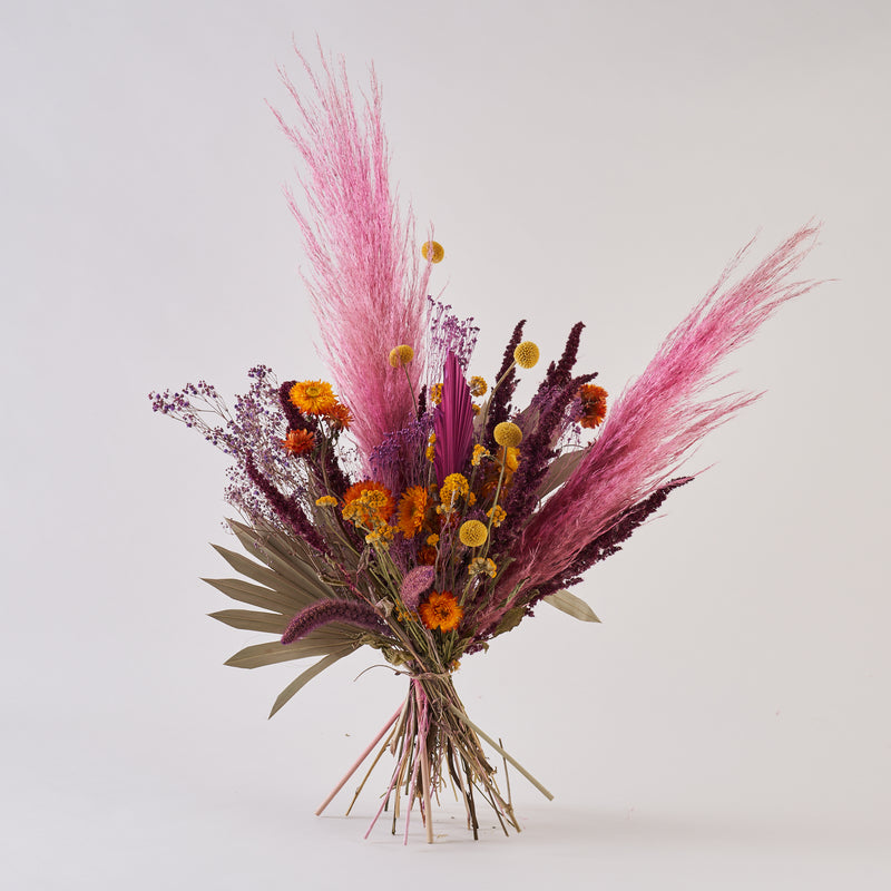 Dried Flower Bunch Peacock