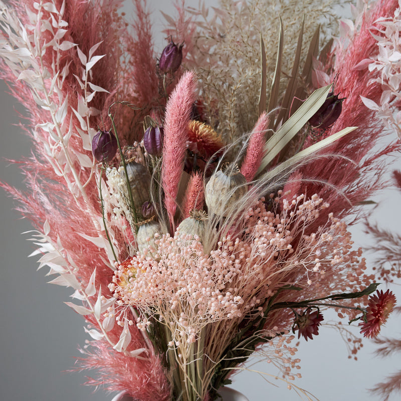 Dried Flower Bunch Raspberry Ripple II