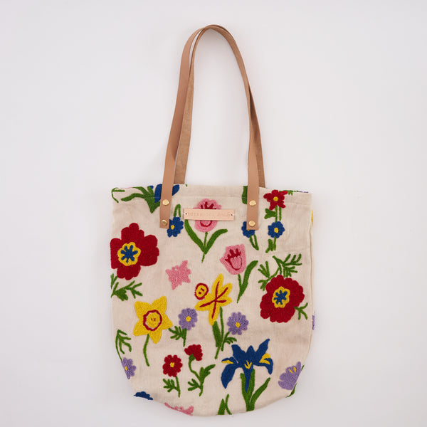 Embroidered Tote Bag : handmade in London