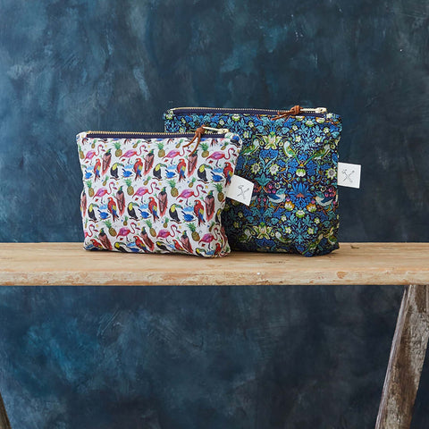 Liberty Print Zip Pouch – Large (6 designs available)