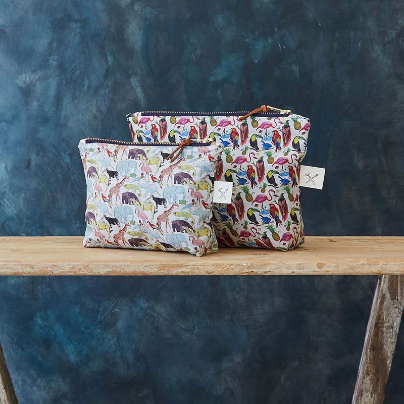 Liberty Print Cotton Zip Pouch Handmade in London by Botanique Workshop