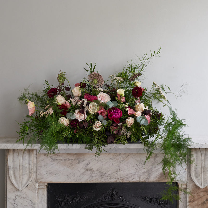 Long floral arrangement