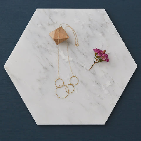 Circles Brass Geometric Necklace