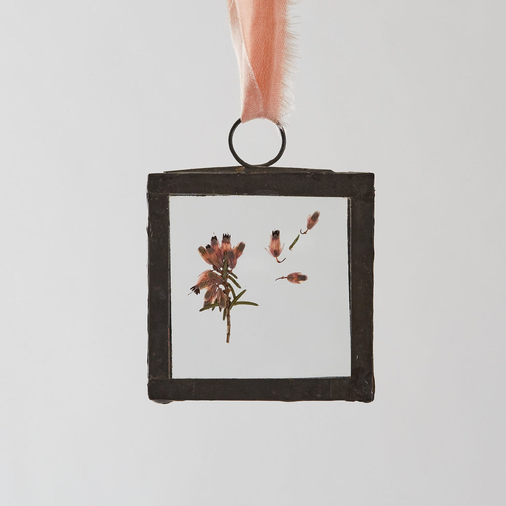 pressed flower glass frame picture small square 2