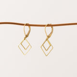 Geometric Earrings big square & little square